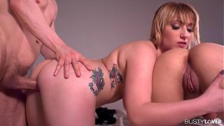 Busty lovers wanna see Luci Boobs & Aida Swinger share dude's big dick
